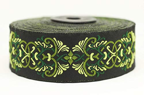 - 35 mm Celtic Knot Design Jacquard Trim, Middle Earth Inspired Jacquard Ribbons (1.37 inches), DIY Sewing Supplies, Sewing Trim, Dress, Clothing, Fashion Ribbon (10 Meters/ 32.8 ft)