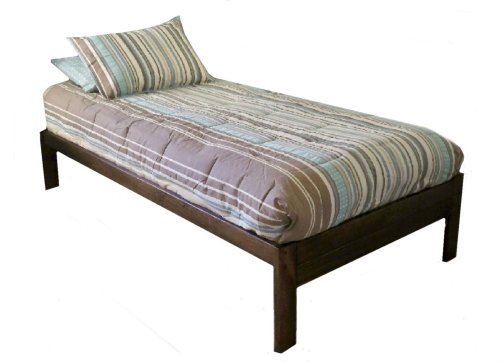 Amazoncom Santa Cruz Twin Size Platform Bed Rustic Walnut Made