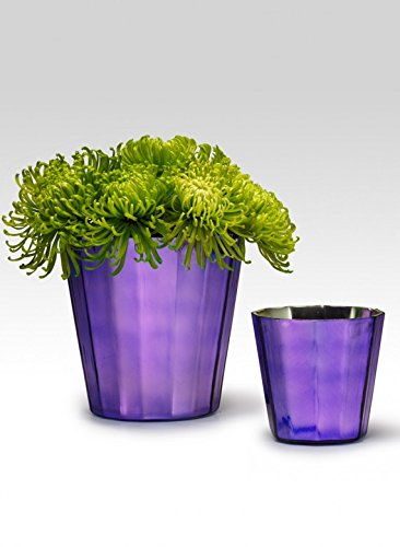 Amazon Purple Faceted Glass Vases 6in Home Kitchen