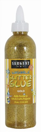 Sargent Art 22-1981 8-Ounce Glitter Glue, Gold