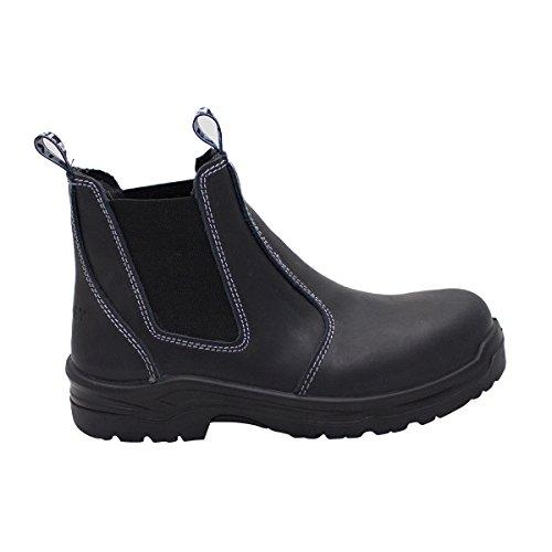 STANLEY Women's Dredge Steel Toe Work Boot Chelsea, Black, 10 Regular US