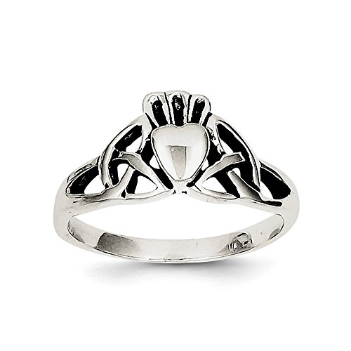 Sterling Silver Antiqued Claddagh Ring Size 8 (Silver Antiqued Claddagh Ring Sterling)