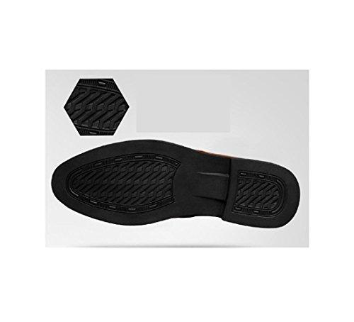 Punta Casual Fondo Uomo Pigro Morbido Scarpe da Black Traspiranti Bean Scarpe Tonda Rete Scarpe Business da A Oxford rZWRaOqr