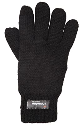 Mountain Warehouse Kids Knit Thinsulate Warm Elasticated Thermal Gloves