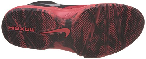 Nike Men's Air Max Emergent Basketball Shoes, White, 7.5 Red / Silver / Black / Grey (Unvrsty Rd / Mtllc-blk-slvr Brgh)
