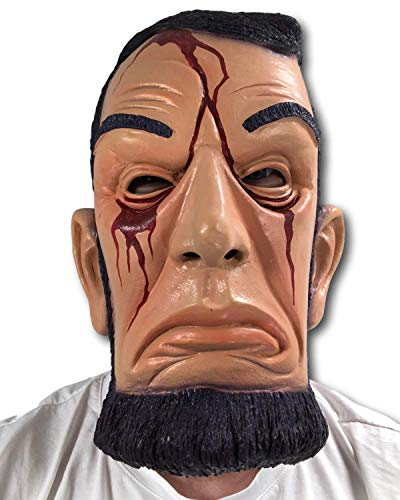 Rubber Johnnies ABE Lincoln Purge Mask, Anarchy, Election, Halloween Costume -
