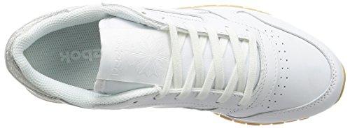 Reebok Cl Lthr Met Diamond, Sneakers Mujer Blanco (White/gum)