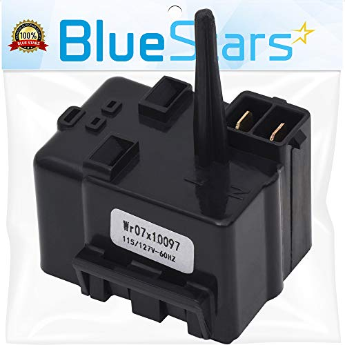 Ultra Durable WR07X10097 Relay and Overload Assembly Replacement Part by Blue Stars – Exact Fit For GE Refrigerators - Replaces 1265640 AP4300623 - Overload Assembly
