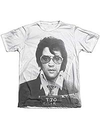 Elvis Presley Mugshot Mens Sublimation Shirt