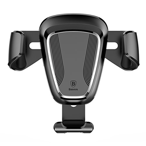 Price comparison product image Car Phone Stand, V-mix Smartphone Car Mount Holder Cradle Support Iphone Full Range of Mobile Phones, Samsung, Millet, Meizu, Huawei, HTC and So the vast Majority of Mobile Phone Models (Silver)