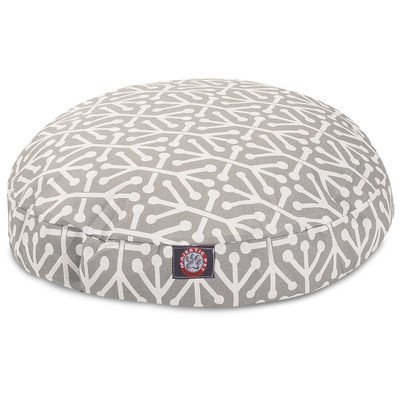Gray Aruba Large Round Indoor Outdoor Pet Dog Bed With Removable Washable Cover By Majestic Pet Products by Majestic Pet by Majestic Pet