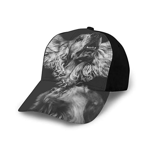 English Cocker Spaniel Dog Classic Baseball Cap Men Women Dad Hat Twill Adjustable Size Black 1