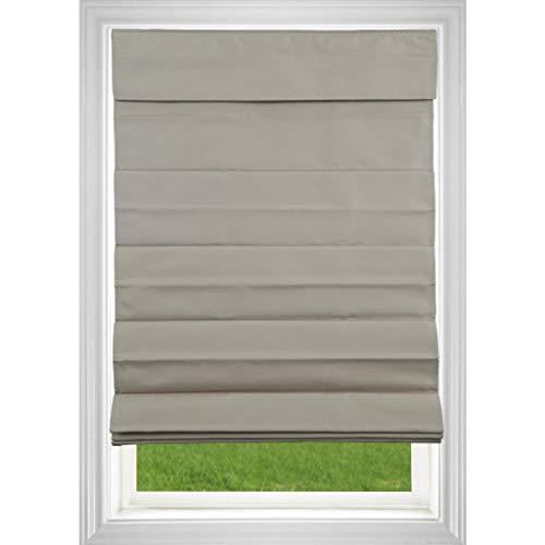 Allstrong, USA Khaki Room Darkening Cordless Fabric Roman Shade 30-39 Inches Khaki 31 x 64 ()