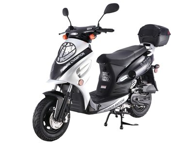 TaoTao CY50-A SILVER 49cc Gas Automatic Scooter Moped w/ 10 Inch Steel Rims