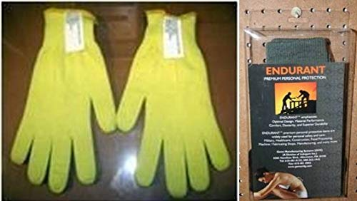 Gems Manufacturing Systems 211190204 Double-Layered Seamless Kevlar Gloves with Kevlar Liner44; Yellow - Large by Gems Manufacturing Systems (Image #1)
