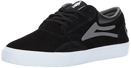 Lakai Mens Skateboard Shoe - Lakai Griffin Skate Shoe, Black/Grey Suede, 11 M US