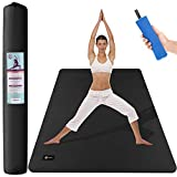 CAMBIVO Large Yoga Mat (6′ x 4′ x 6mm), Non-Slip Exercise Fitness Mat for Yoga, Pilates, Workout, Baby Play