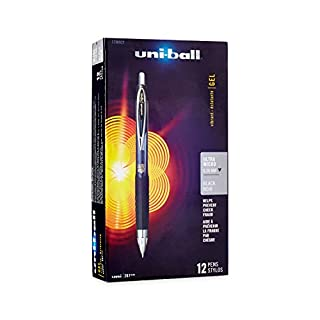 uni-ball Signo 207 Retractable Gel Pens, Ultra-Micro Point, Black Ink, 12-Pack (1790922) (B005HNZ5SW) | Amazon Products
