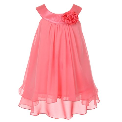 Kids Dream Coral Chiffon A Line Special Occasion Dress Toddler Girl 2T