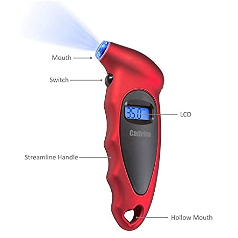 ... LCD 150 PSI Portátil Medidor de Precisión de Neumáticos para Todo Terreno para Motocicletas, Automóviles, Bicicleta y Coche: Amazon.es: Coche y moto