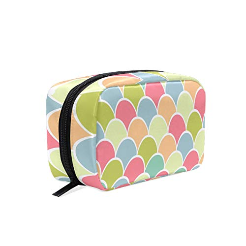 Cosmetic Makeup Bag Pouch Abstract Rainbow Clip Art