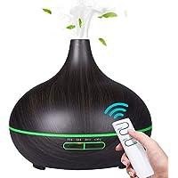 SunTop 550ML Humidificador Ultrasónico Aromaterapia, 4 Temporizador, 7-Color LED, Humidificador Aromaterapia para Bebé…