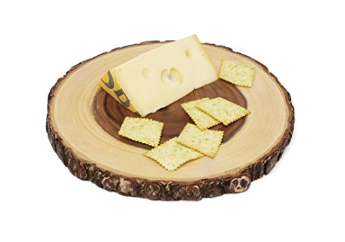 Lipper International 1040 Acacia Wood Slab Serving Board With Bark for Cheese, Crackers, and Hors D'oeuvres, Set of 3, Assorted Sizes by Lipper International (Image #8)