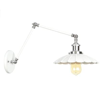 Amazon.com: HYYK Swing Arm Wall Sconces, Iron Wall Lamp ...