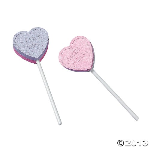 Valentines Lollipops Day (Valentine Conversation Heart Lollipops)
