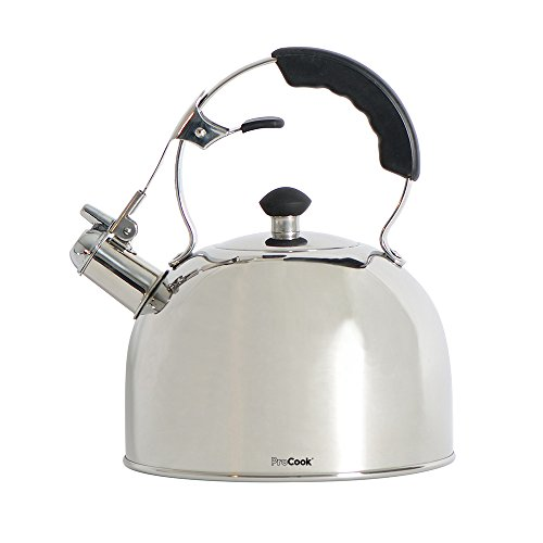 ProCook Stovetop Induction Whistling Kettle 2L Closed Black Handle