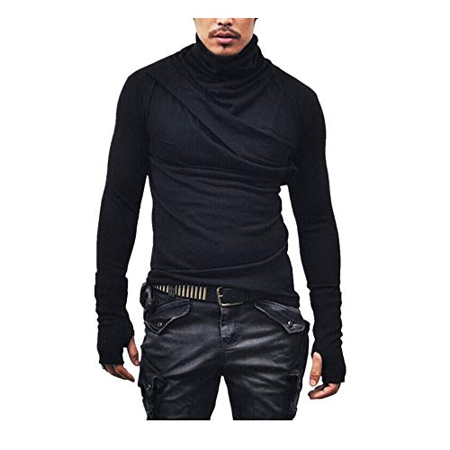 (Men's Long Sleeve Tops Fashion Bloue Fashion T-Shirts Autumn and Winter)