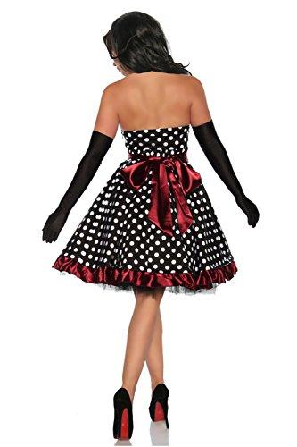 Schwarz Rockabilly Weiß Kleid Schwarz Kleid Rot Rockabilly Rot Weiß FnwqSTxT