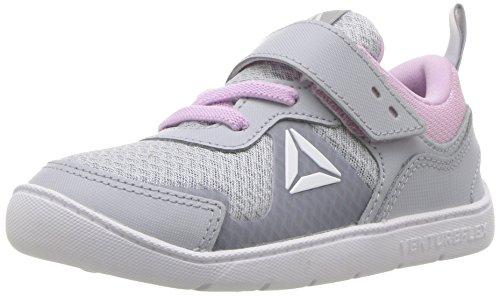 Reebok Baby Ventureflex Stride 5.0 Sneaker, Cloud Grey/Moonglow/White, 9 M US Toddler
