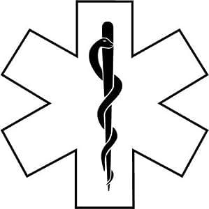 Amazon Com Medic Emt Ems Symbol Decal Vinyl Window