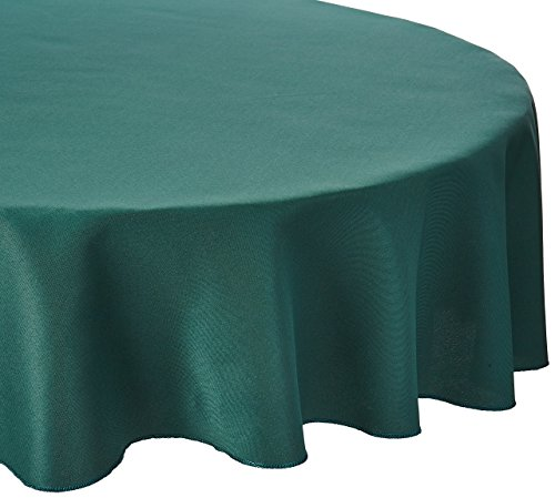 LinenTablecloth 70-Inch Round Polyester Tablecloth Hunter - Cover Table Round Hunter Green