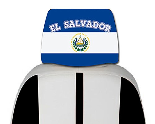 r Seat Flag 2 pcs -With, free iphone 6s case or Head band design in your flag color logo. (El Salvador Emblem)