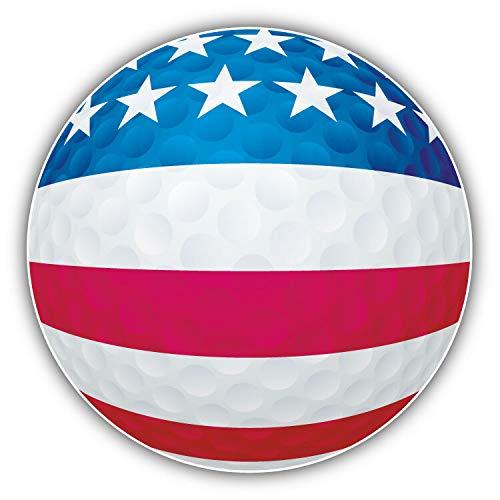 (Magnet USA Flag Golf Ball Window Truck Car Vinyl Flexible Magnet Magnetic Bumper Sticker 5'' x 5'')