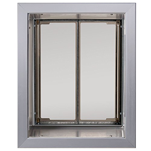 PlexiDor Performance Pet Doors Large Silver Wall Mount by PlexiDor Performance Pet Doors