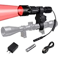 LUMENSHOOTER U8 Cree USB Rechargeable Hunting Light Kit...