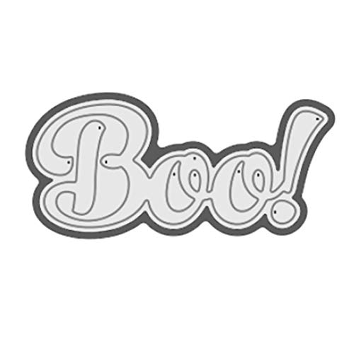 Letter Stencils InLoveArts Letters Boo Metal Cutting Dies Scrapbooking 69.8528.57mm Craft New 2019 Embossing Stencil Card Decoration Halloween -