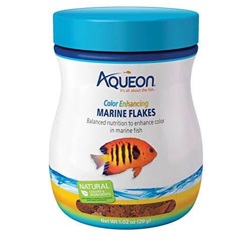 (Aqueon Marine Color Enhancing Flakes Fish Food,)
