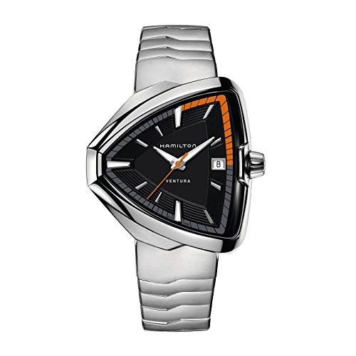 Hamilton Ventura Elvis80 Black Dial Stainless Steel Mens Watch H24551131