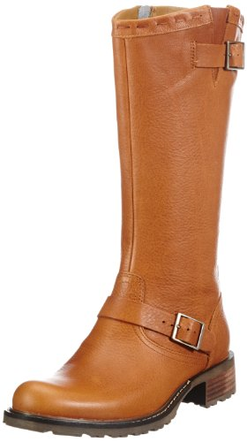 Bottes Buckle Femme Sebago cognac Cowboy Et Saranac High Marron Bottines tafBq
