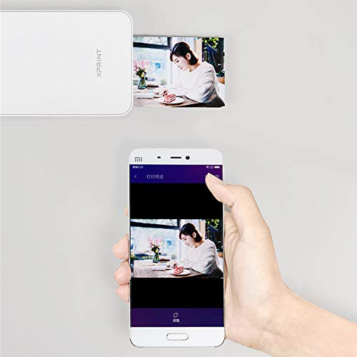 SUNSHAN AR Photo Printer,Bluetooth Wireless Link, Portable Instant Color Photo Printer, Print and Share Social Media Photos, Full Color Printing, Photo Quick Drying,White by SUNSHAN (Image #2)