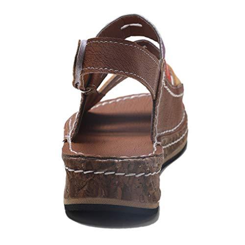 f426eb005a422 JJHAEVDY Womens Colorful Open Toe Wedge Sandals Summer Low Heeled Platform  Sandal Non-Slip Comfort Summer Flats