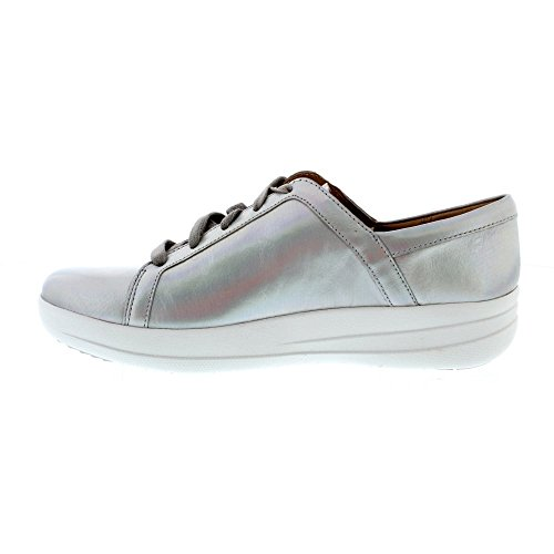 Fitflop Women's F-Sporty Ii Lace up Sneakers-Iridescent Trainers Silver (Silver Iridescent 577) MuWguCVd
