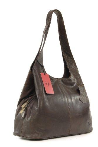 GIGI - OTHELLO 4326 - Bolso de hombro - Cuero Oscuro Marrón