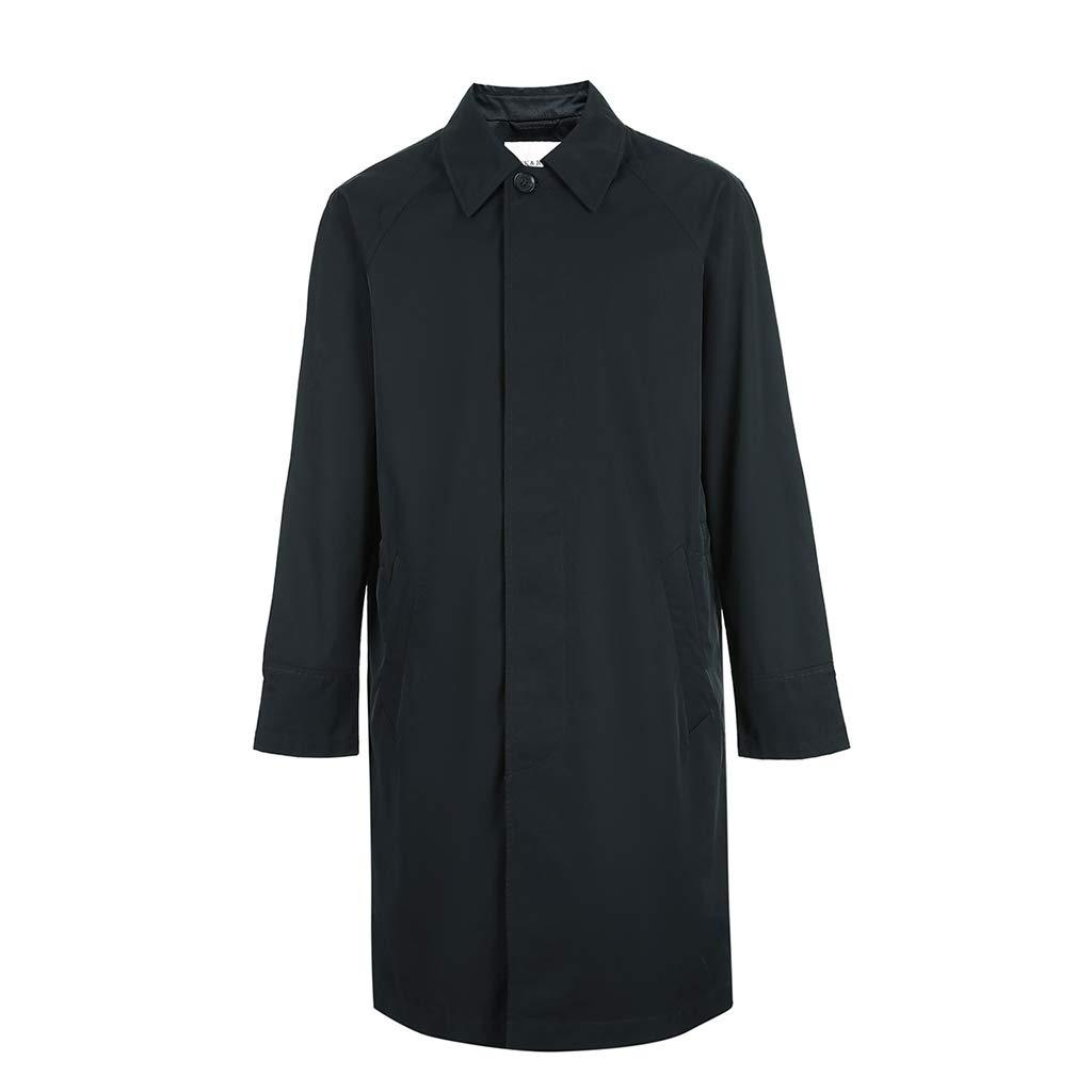bluee Clothing & Accessories Men Coats & Jackets W Business Men's bluee Trend Jacket Medium Long Men's Jacket Spring Men's Jacket Medium Long Jacket Fashion Trend Men's Student Casual Jacket, Cotton Co