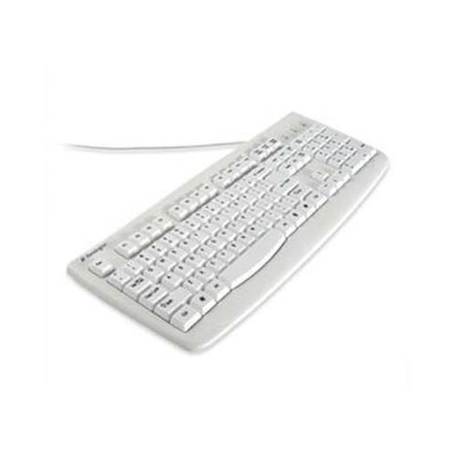 Kensington K64406US Washable USB/PS2 Keyboard - USB, PS/2 - 104 Keys - White Generic