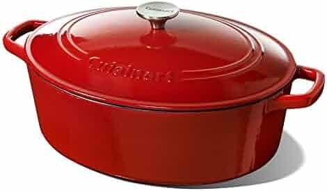 Cuisinart 7 Quart Oval Casserole, Red Gradient